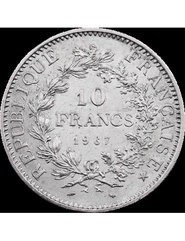 Pièce en argent - 10 francs Hercule - pile