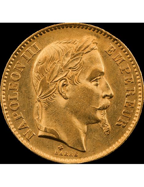Pièce de 20 Francs Napoléon III Tête Laurée - face